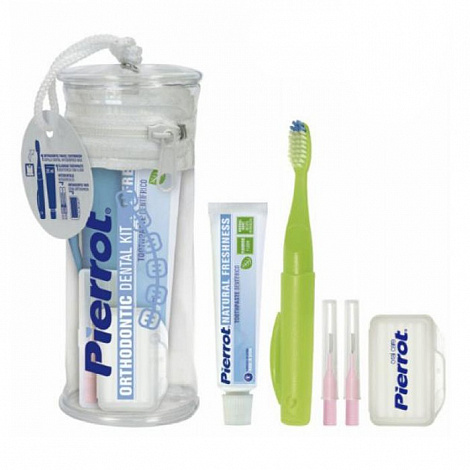 Набор Pierrot Orthodontic Kit (зуб.щетка TRAVEL ORTHO,зуб.паста, 2 ершика 84117329 32521
